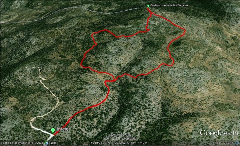 Calderon ruta